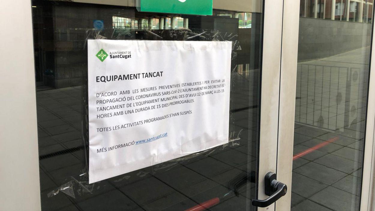 Els equipaments esportius estan tancats / Foto: Cugat Mèdia