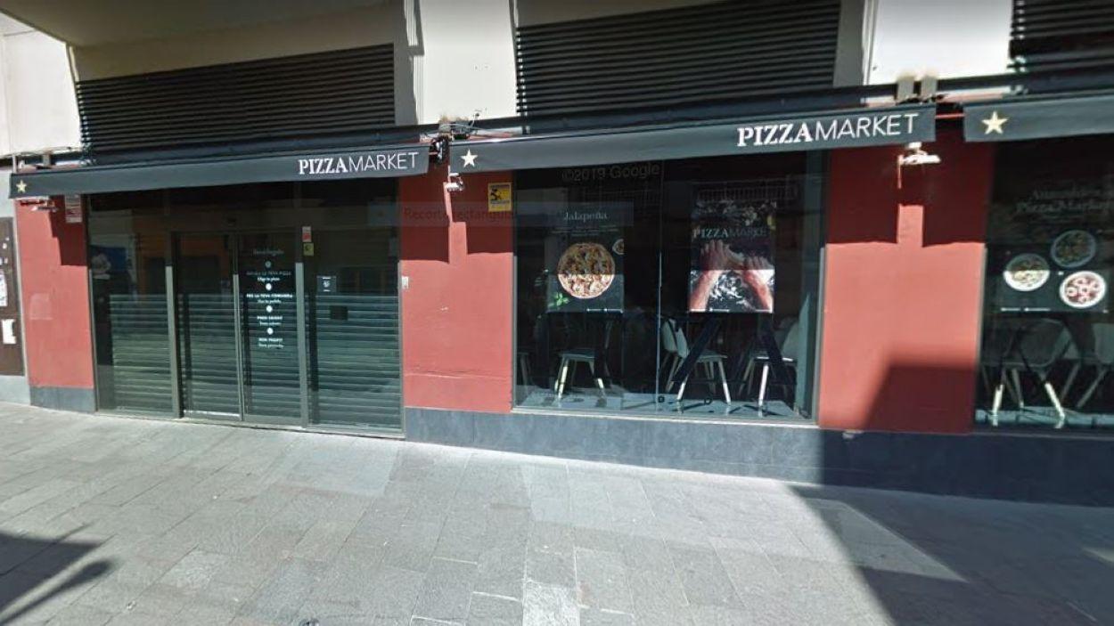 El Pizza Market, un dels restaurants que participa a la iniciativa / Foto: Google Maps