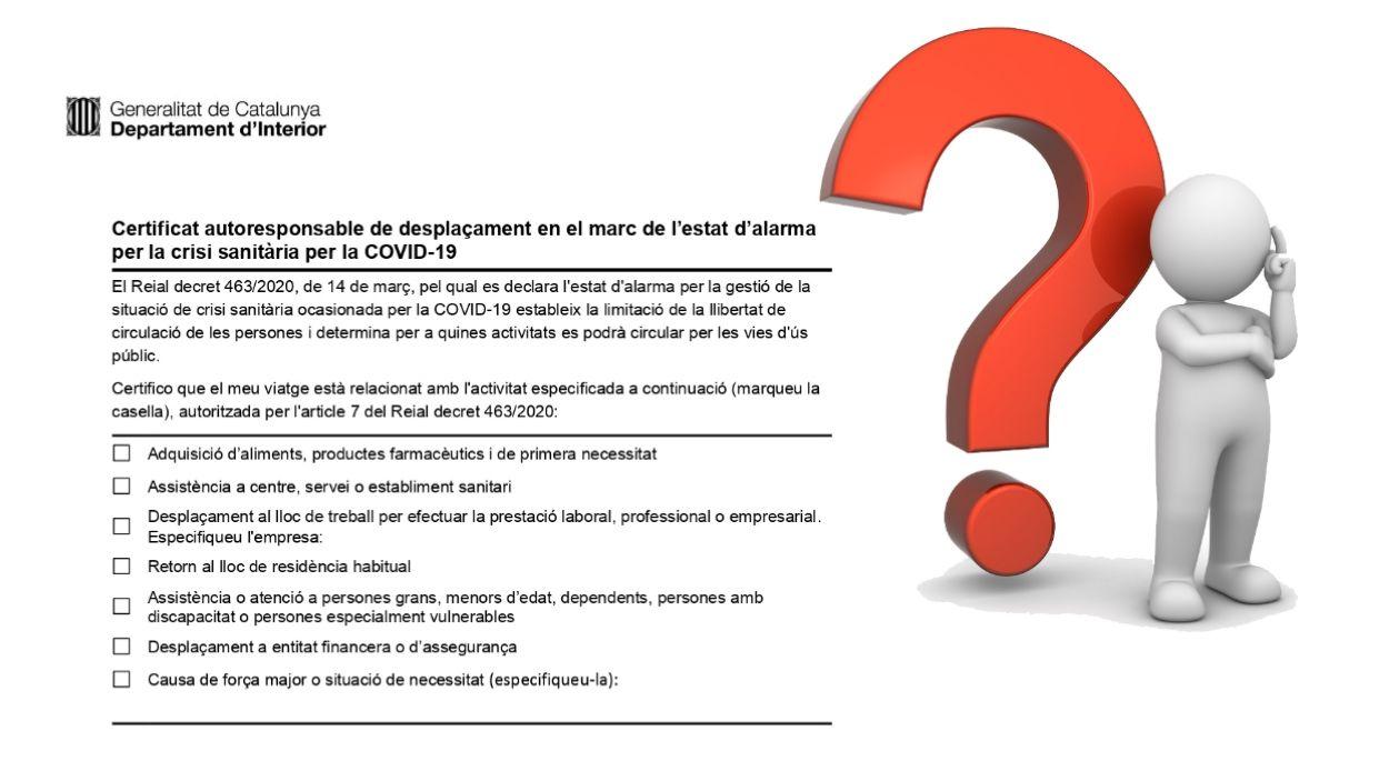 El certificat d'autoresponsabilitat suscita noves preguntes / Foto: Cugat Mèdia