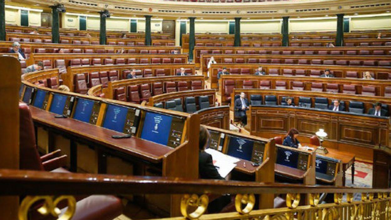 La sessió plenària ha tingut només la participació d'una quarentena de diputats / Foto: ACN