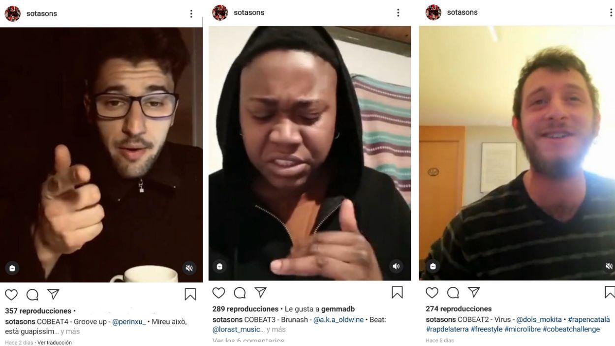 Mostres d'alguns dels vídeos que Sotasons ha penjat a Instagram / Foto: Sotasons
