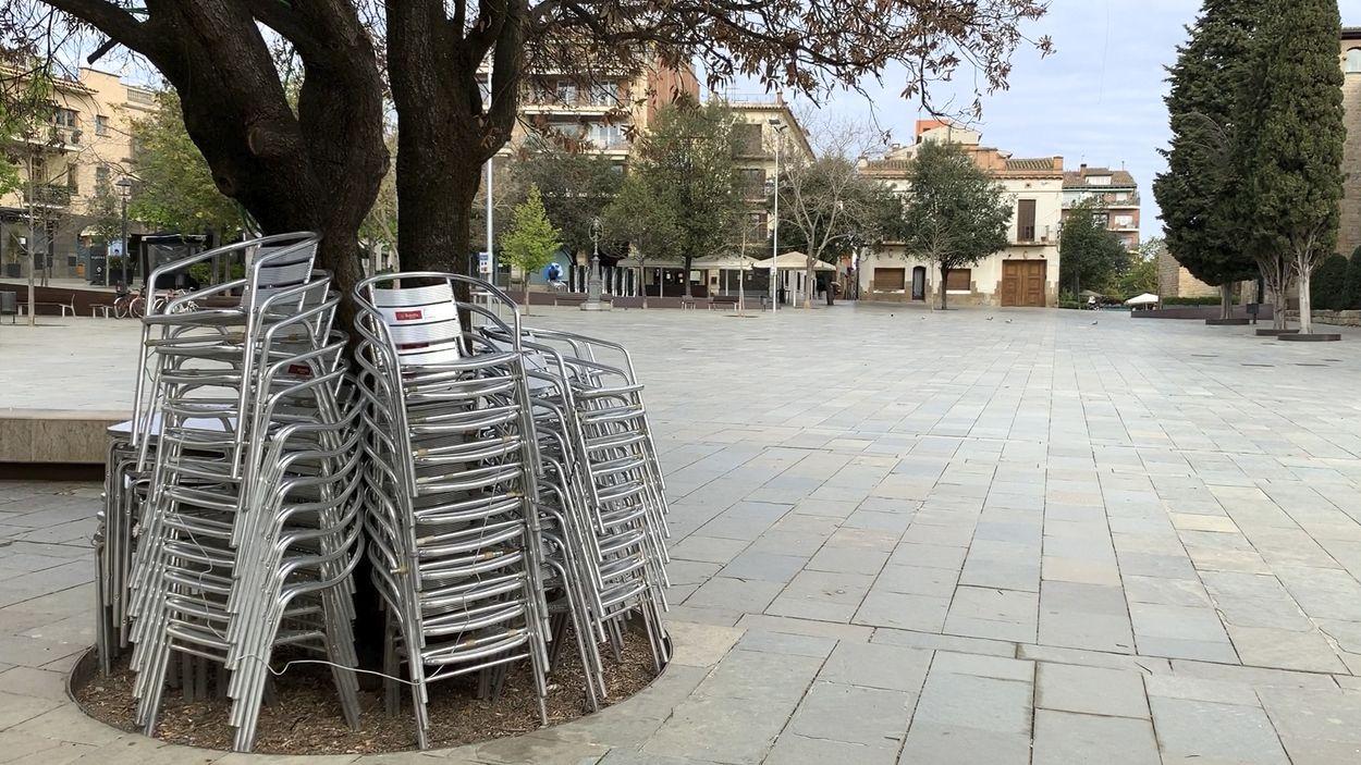 Amb el desconfinament alguns comerços de Sant Cugat ja han començat a obrir / Foto: Lluís Llebot (Cugat Mèdia)