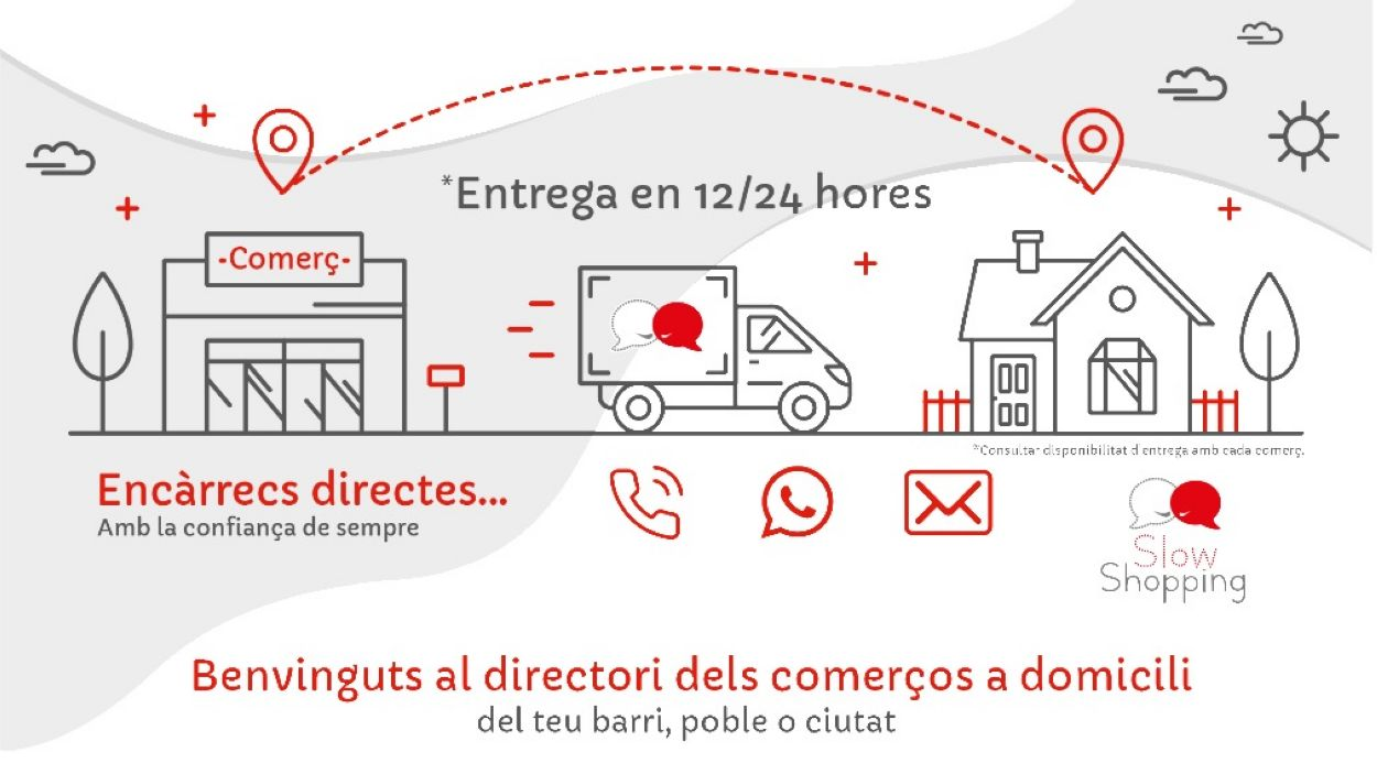 La iniciativa SlowShopping.cat arriba de la mà de Sant Cugat Comerç i s'ha extès a diferents associacions de comerciants de tot Catalunya / Font:SlowShopping.cat