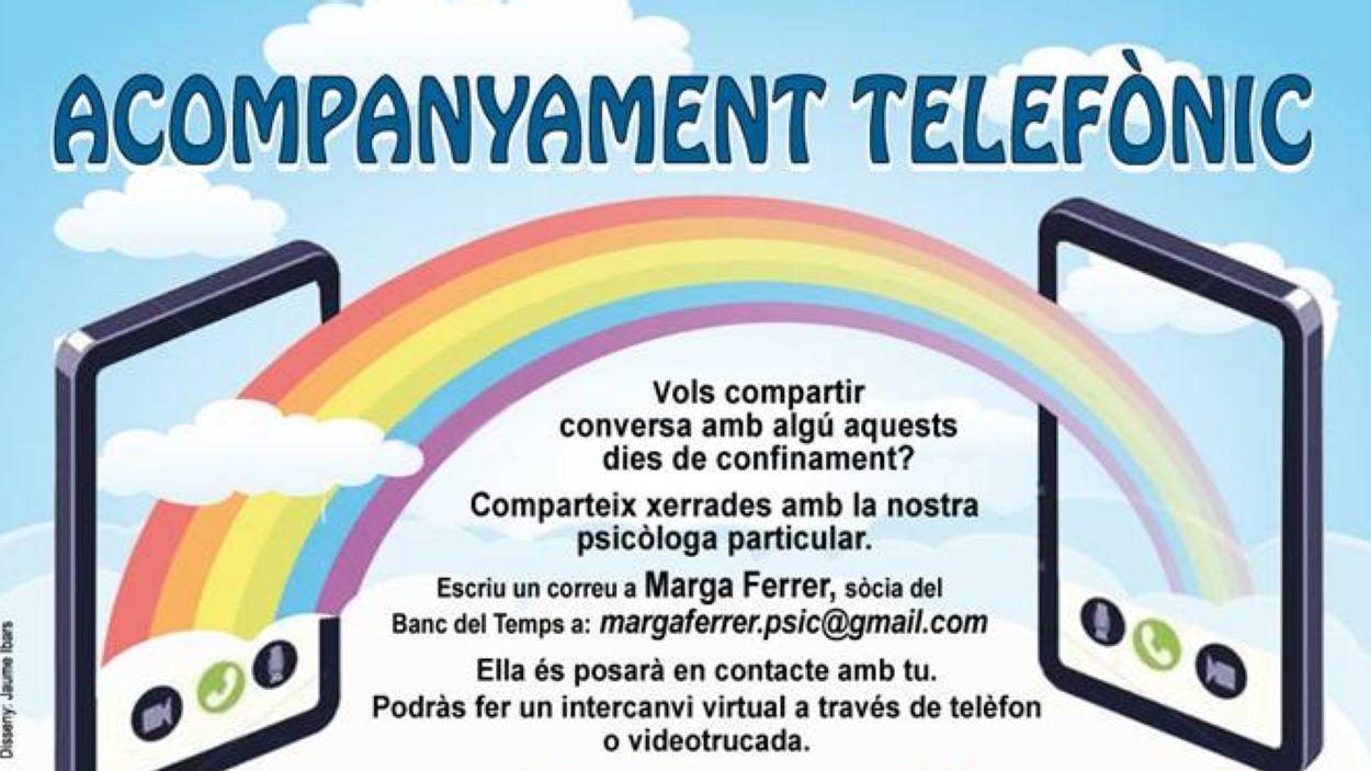 L'acompanyament telefònic és una de les propostes del Banc del Temps per aquest temps de confinament / Font: Banc del Temps