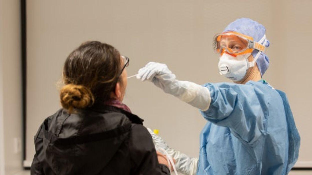 Imatge d'arxiu d'una prova de coronavirus / Foto: ACN