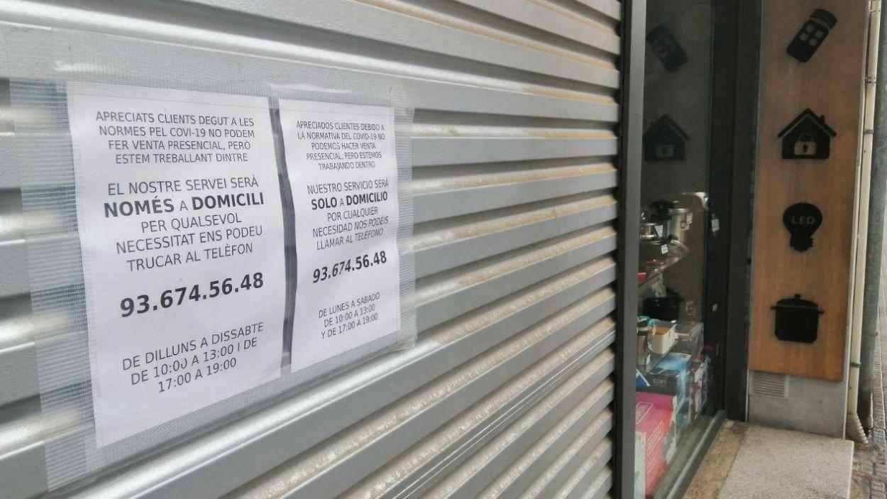Amb la crisi del coronavirus molts comerços de Sant Cugat han de potenciar la seva digitalització / Foto: Cugat Mèdia