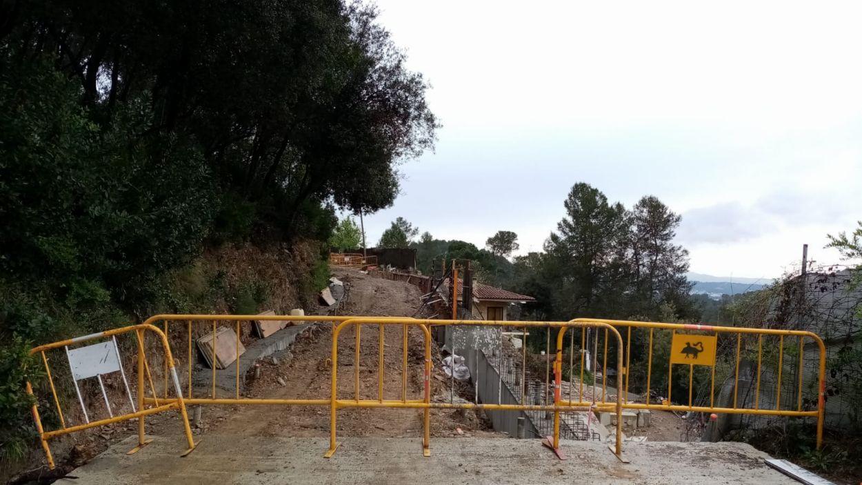 S'aturen les obres a l'avinguda de Pere Planas / Foto: Ajuntament