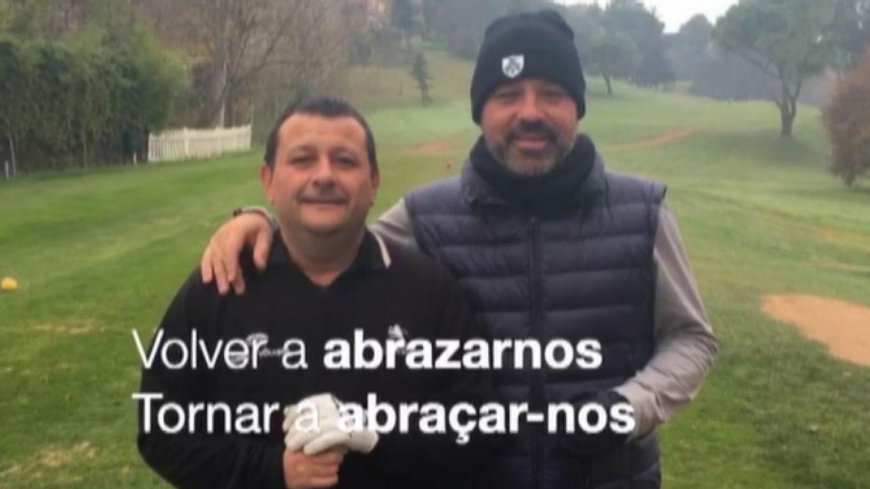 Imatge del vídeo del Club de Golf Sant Cugat amb el lema, tornarem / Font: Golf Sant Cugat