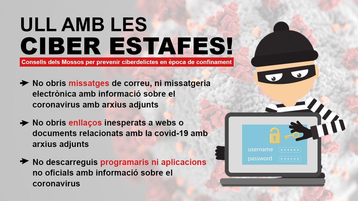 Els Mossos recomanen no abaixar la guàrdia amb la prevenció de ciberdelictes / Foto: Cugat Mèdia