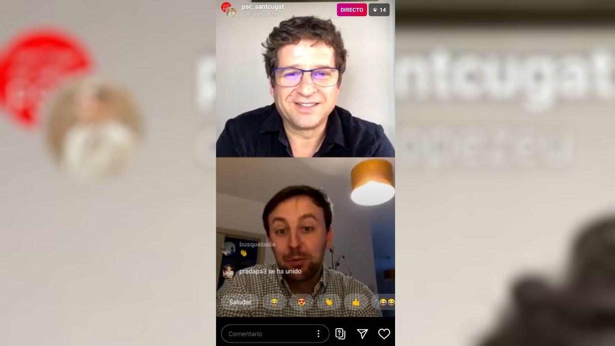 Pere Soler i Javi López durant la conversa / Foto: Cugat Mèdia