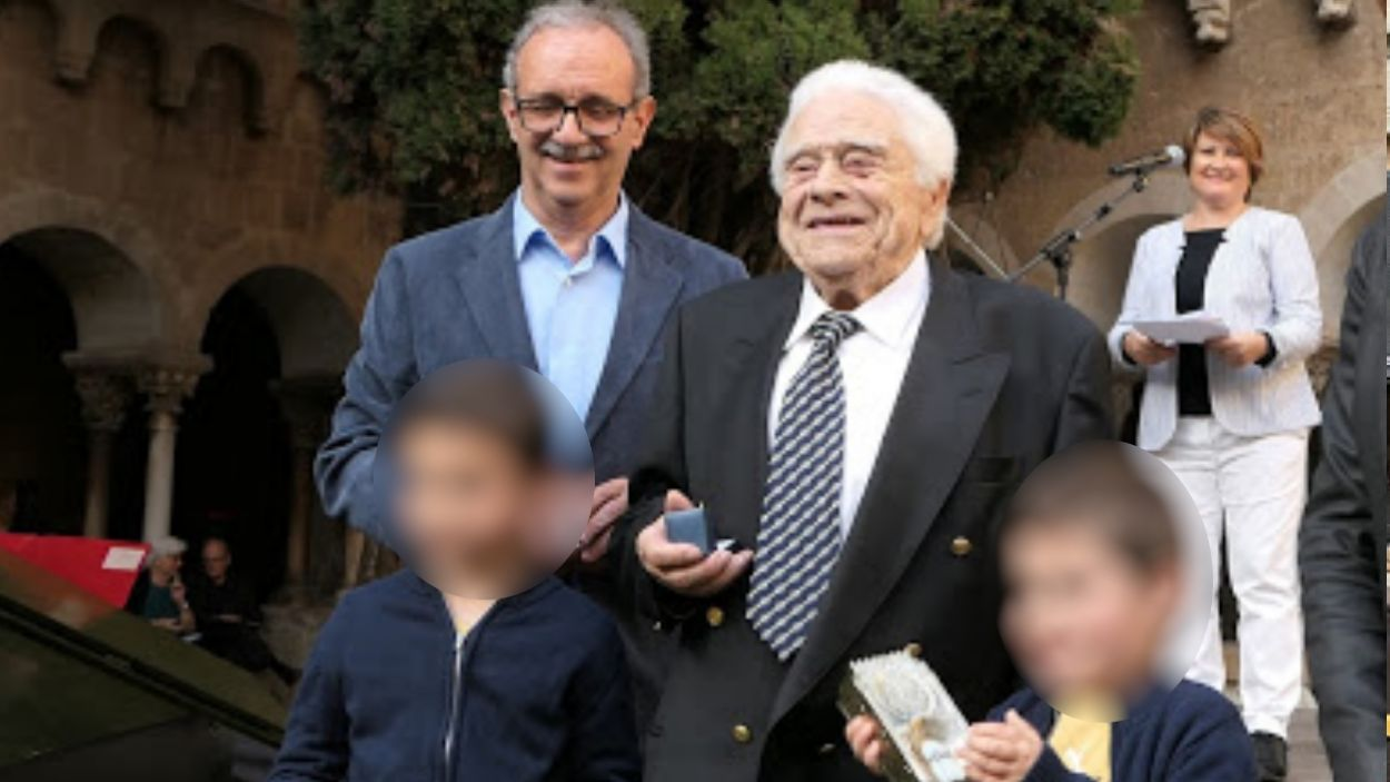 Rius amb el president del Club Muntanyenc, Silvano Bendinelli / Foto: Club Muntanyenc