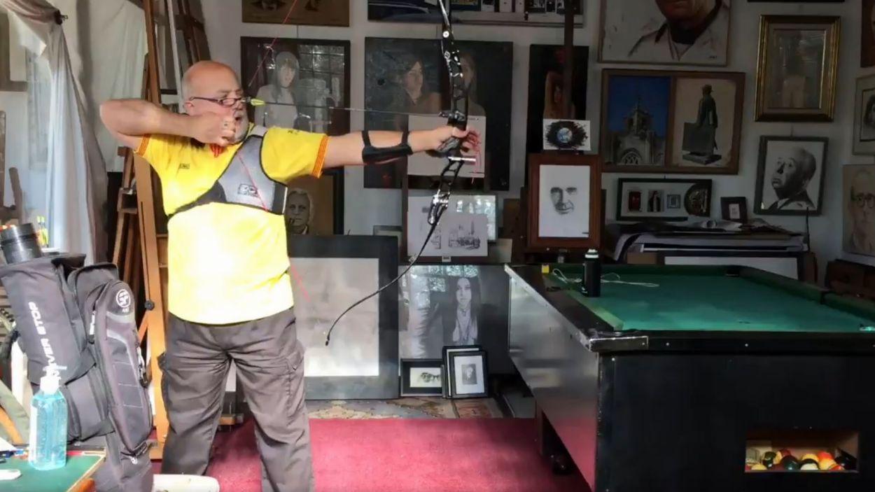Moment del vídeo penjat per l'artista Adolf / Foto: Adolf