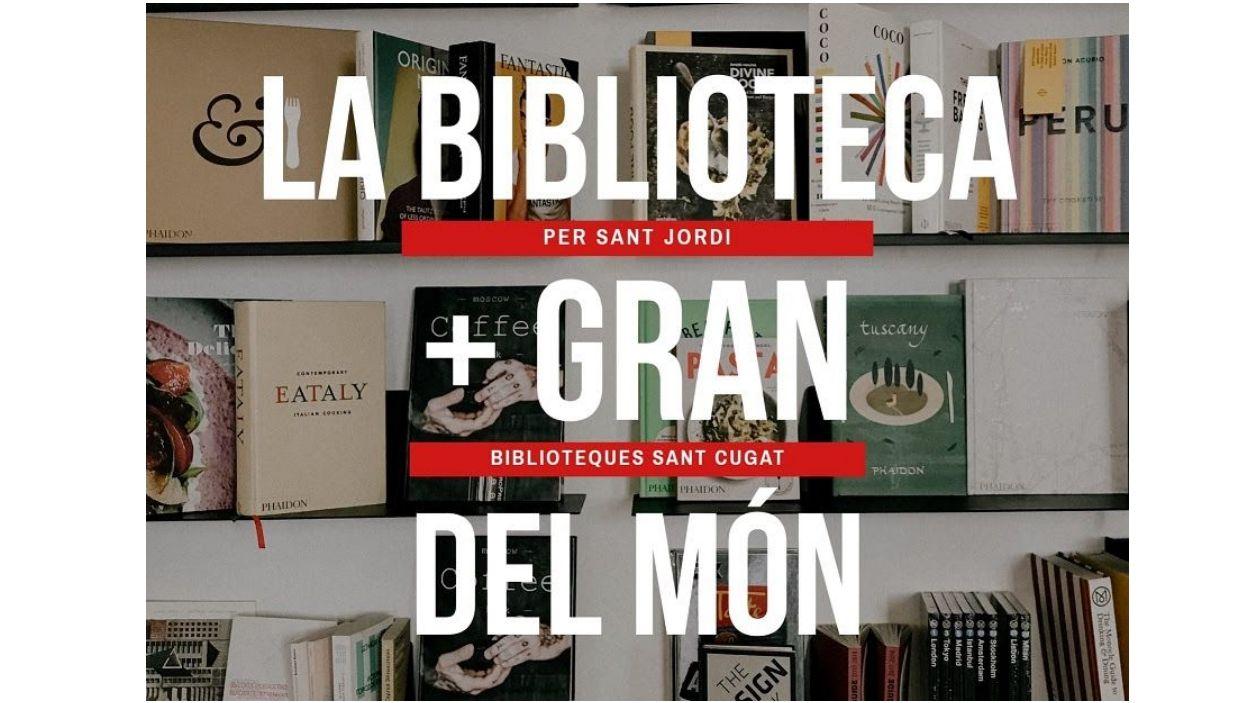Cartell de la iniciativa / Foto: Biblioteques de Sant Cugat