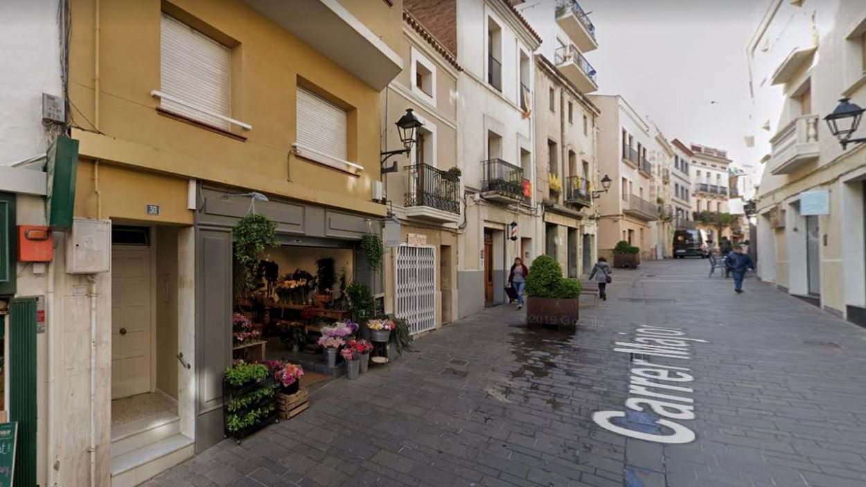 La Floristeria Moshi, al carrer Major / Foto: Google Maps