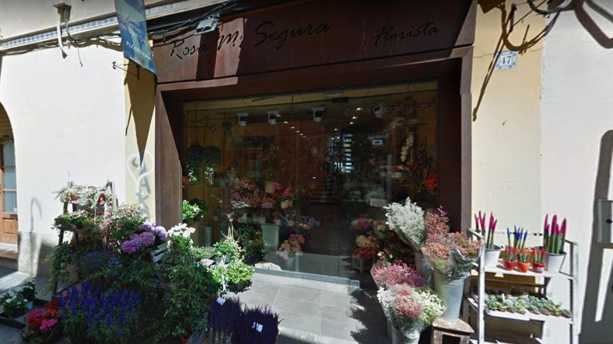 La Floristeria Rosa Maria Segura, al carrer Santa Maria / Foto: Google Maps