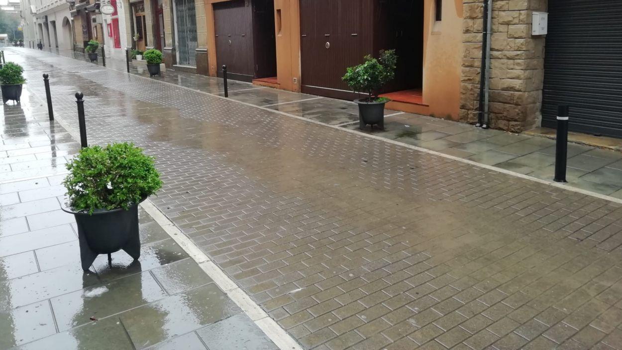 La pluja podria ser intensa a Sant Cugat aquest diumenge / Font: Cugat Mèdia