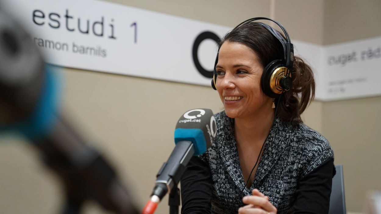 Elisabet Franch, als estudis de Cugat Mèdia / Foto: Guillem Babitsch (Cugat Mèdia)