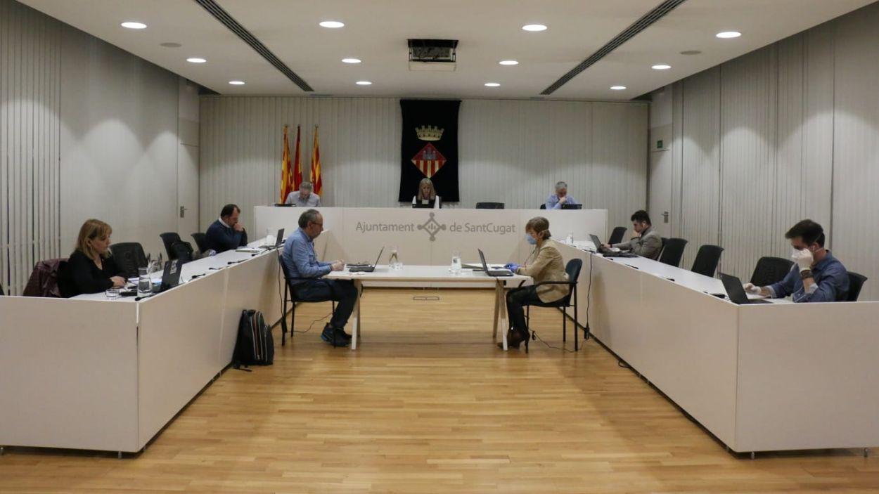 La gran majoria de regidors han participat al ple via telemàtica / Foto: Ajuntament