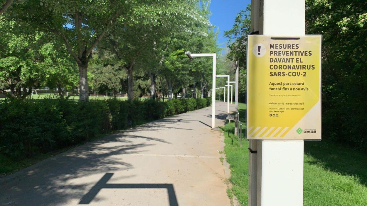 Sant Cugat desprencinta parcs i espais verds per obrir-los als infants aquest diumenge