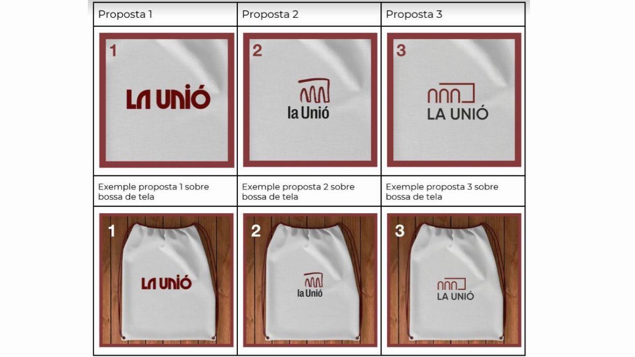 Les tres propostes per al nou logotip / Foto: La Unió