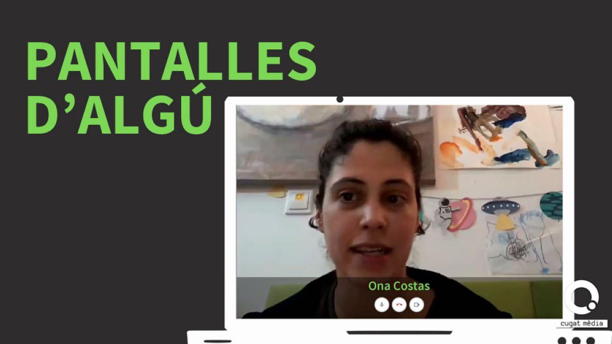 Ona Costas, una mare soltera santcugatenca, és el primer testimoni del programa 'Pantalles d'algú' / Foto: Cugat Mèdia