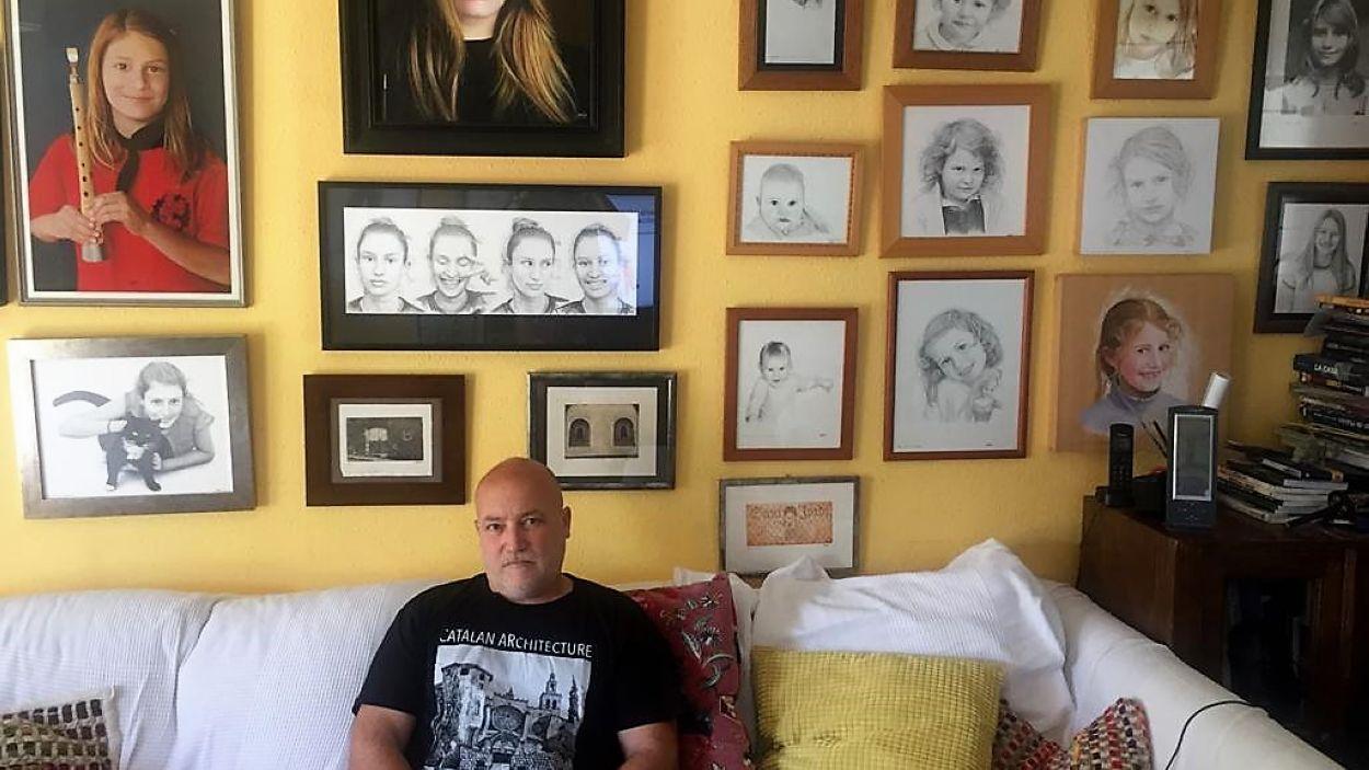 L'artista Adolf retrata la seva filla durant 18 anys / Foto: Cedida