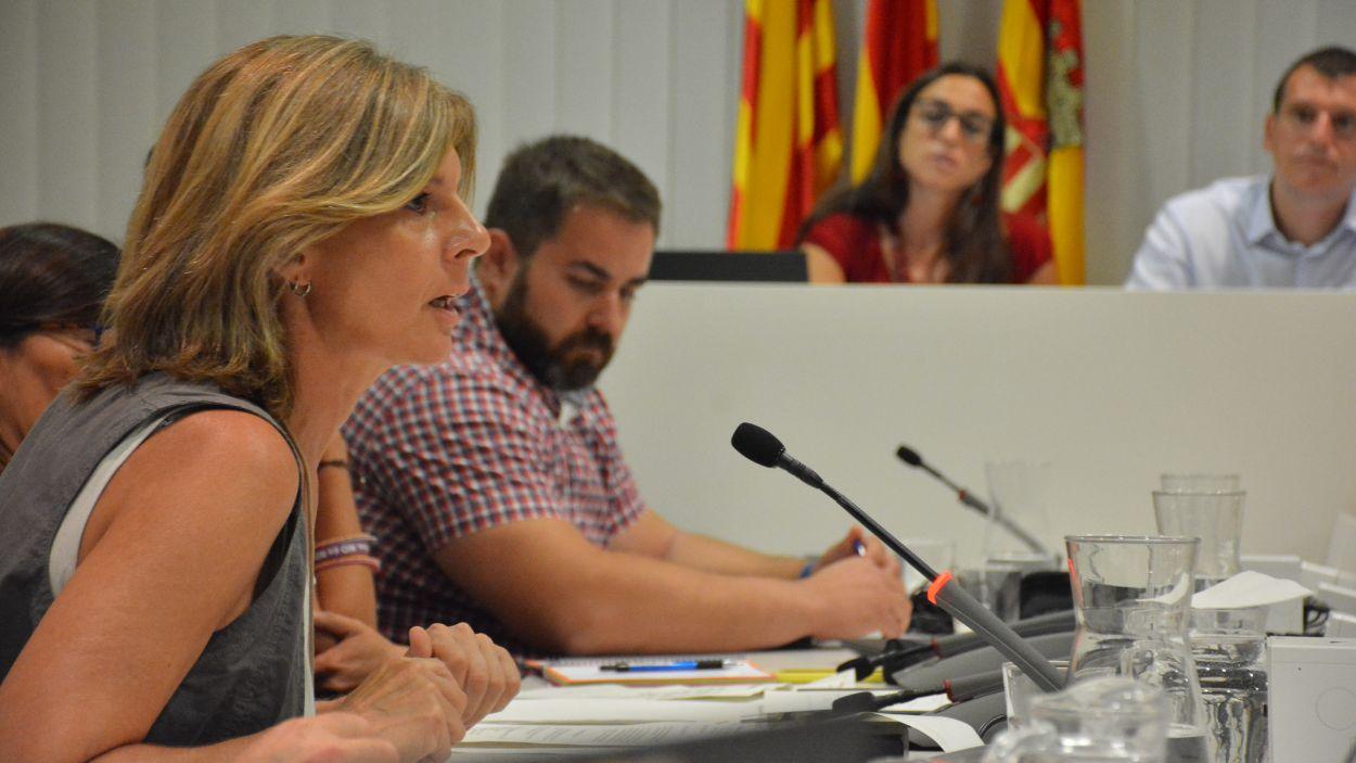 La portaveu de Junts per Sant Cugat, Carmela Fortuny / Foto: Localpres