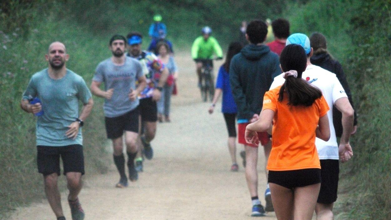 Els corredors i els ciclistes han tornat a Collserola / Foto: Cugat Mèdia