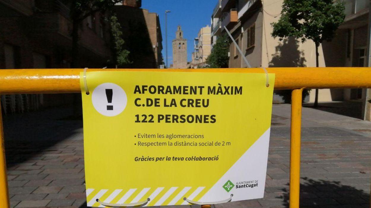 Senyalització del carrer de la Creu / Font: Cugat Mèdia