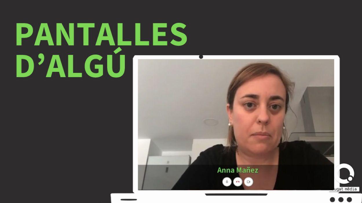 Anna Máñez explica com ha viscut el confinament a Cugat Mèdia / Foto: Cugat Mèdia