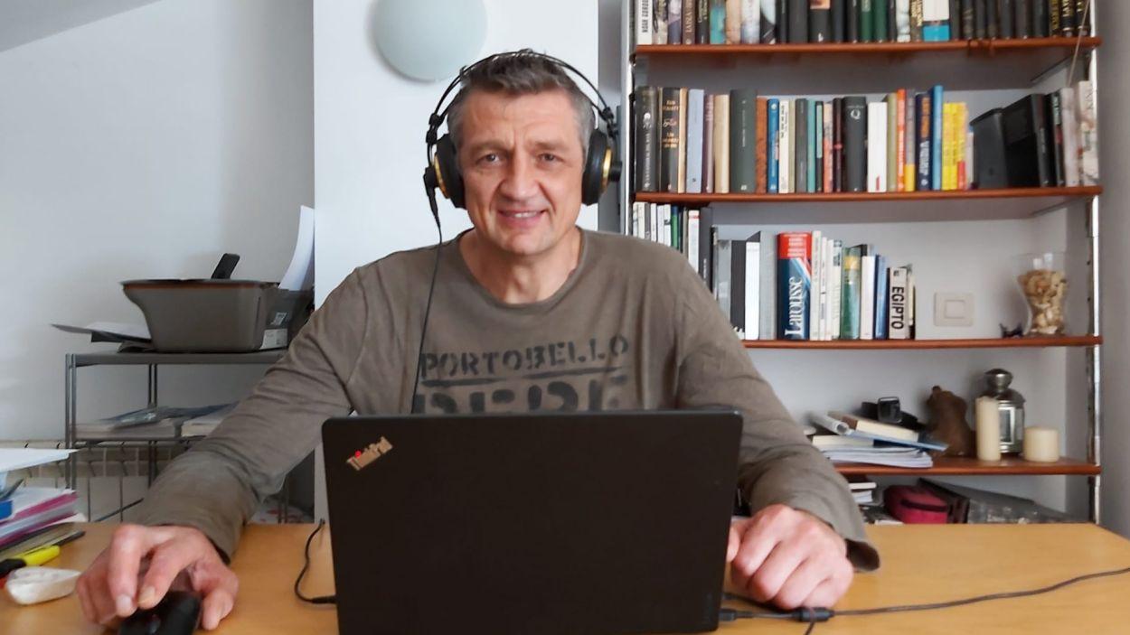 Andrei Xepkin durant l'entrevista amb Cugat Mèdia / Font: Andrei Xepkin