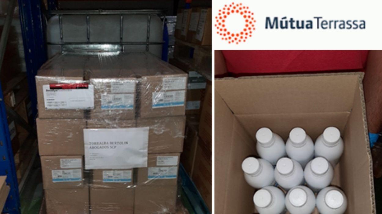 El despatx d'advocats ha donat 60 caixes de líquid higienitzant / Foto: Torralba Bertolín Abogados