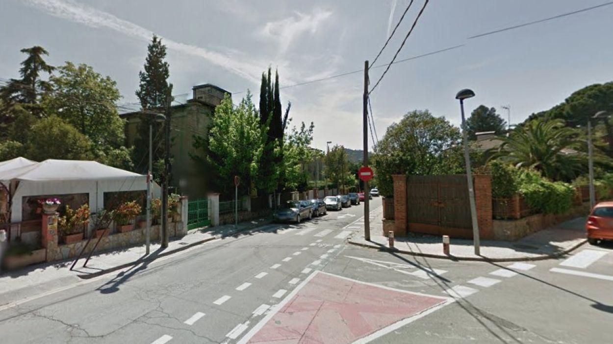 Valldoreix vol connectar la seva xarxa ciclable amb la de Sant Cugat / Foto: Google Maps