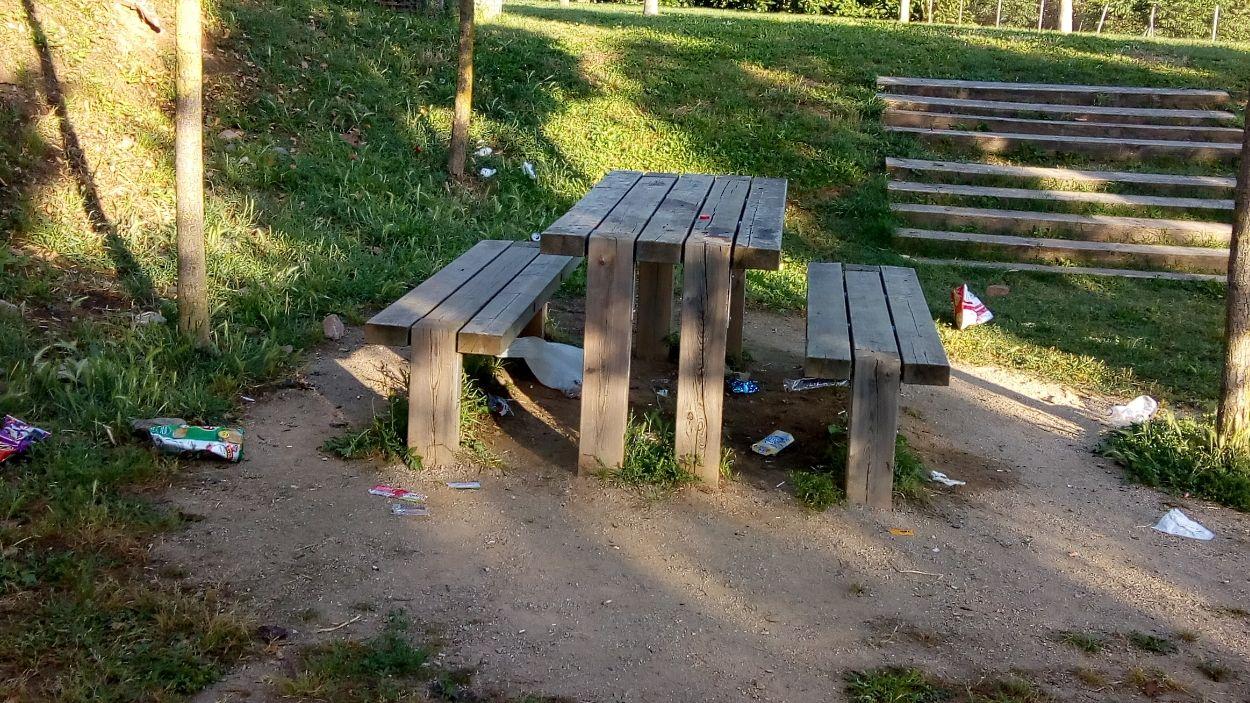 Brossa a un parc del barri santcugatenc / Foto: Cedida