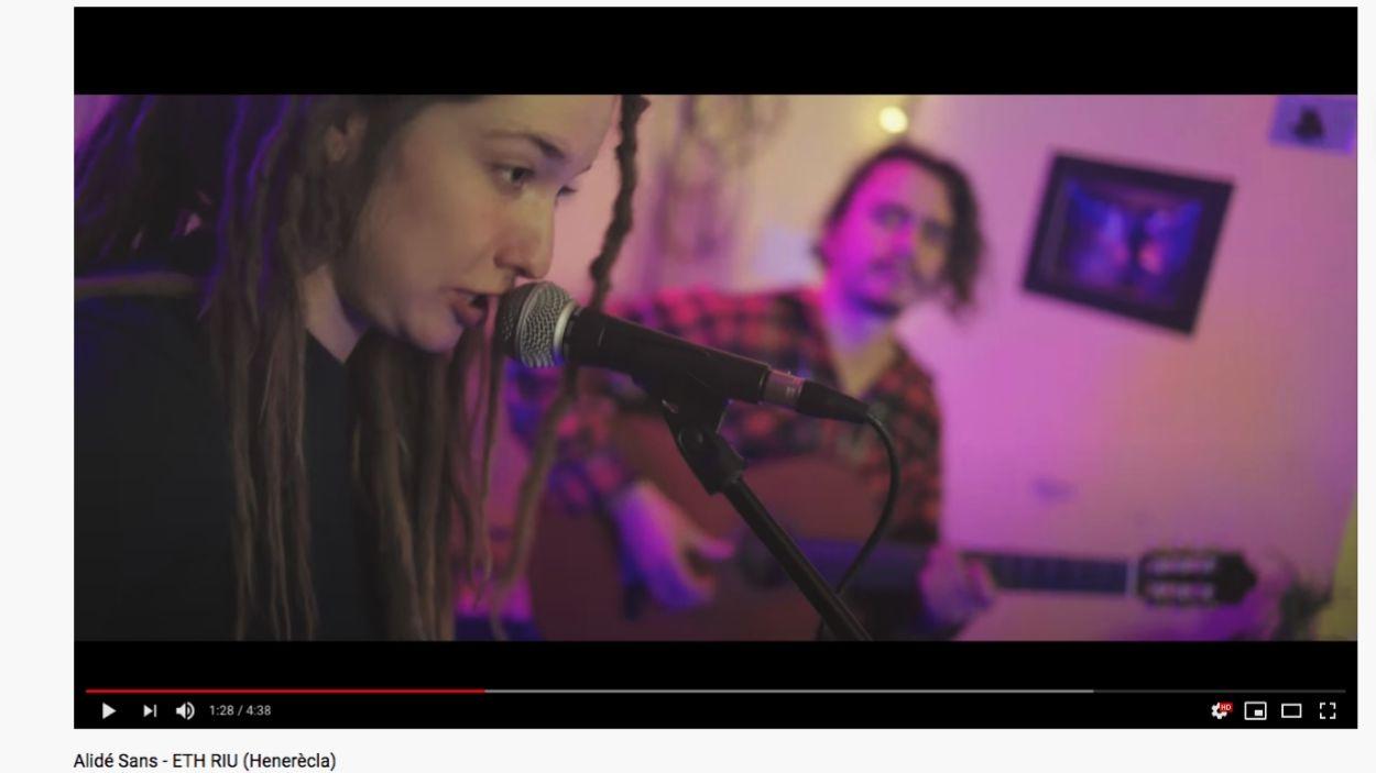 Alidé Sans oferirà la seva música malgrat la separació física / Foto: Captura de pantalla Youtube
