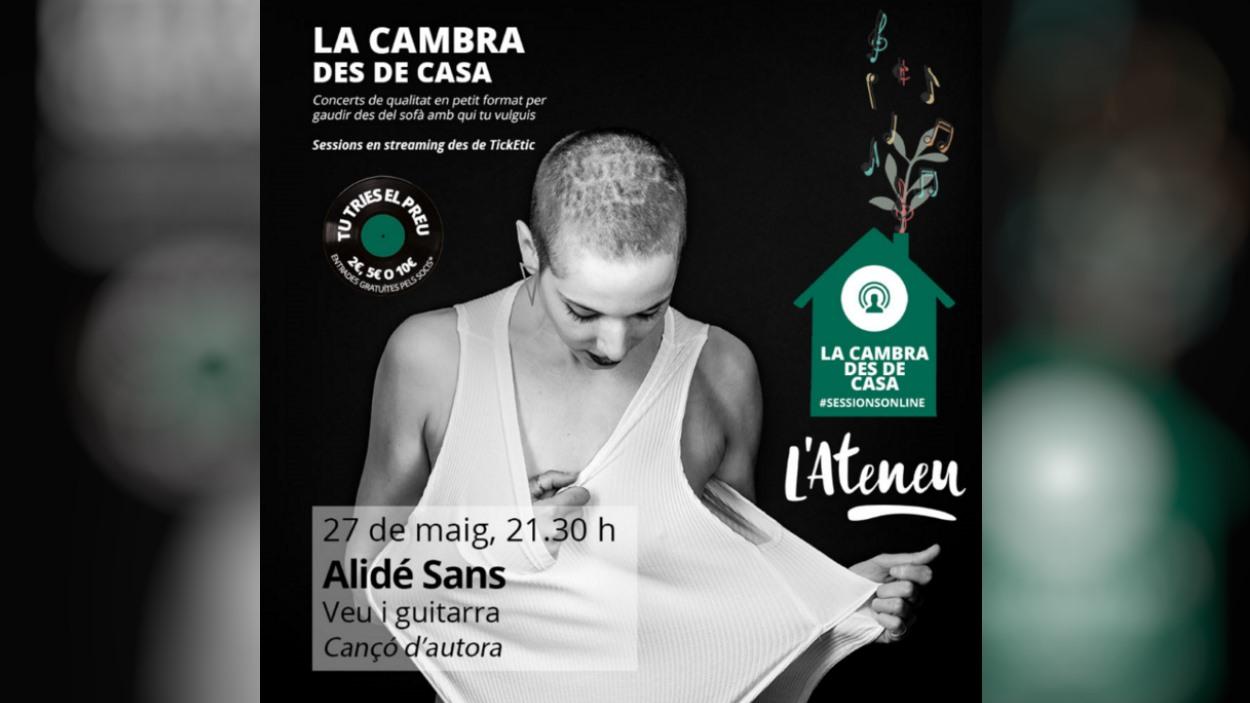 Concert 'La Cambra des de casa': Alidé Sans