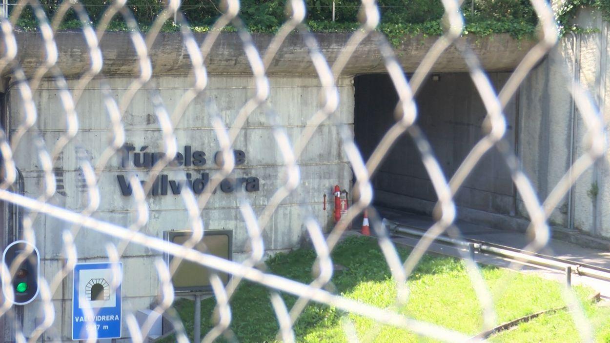 L'entrada al túnel pel cantó que toca a Sant Cugat / Foto: Bikevidrera