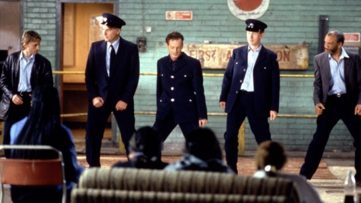 Un moment del film 'Full Monty'
