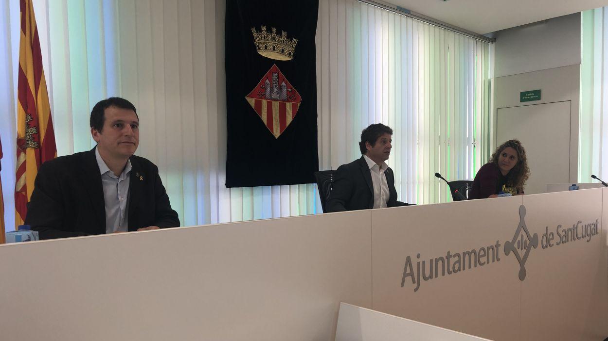 Moment de la roda de premsa / Foto: Cugat Mèdia