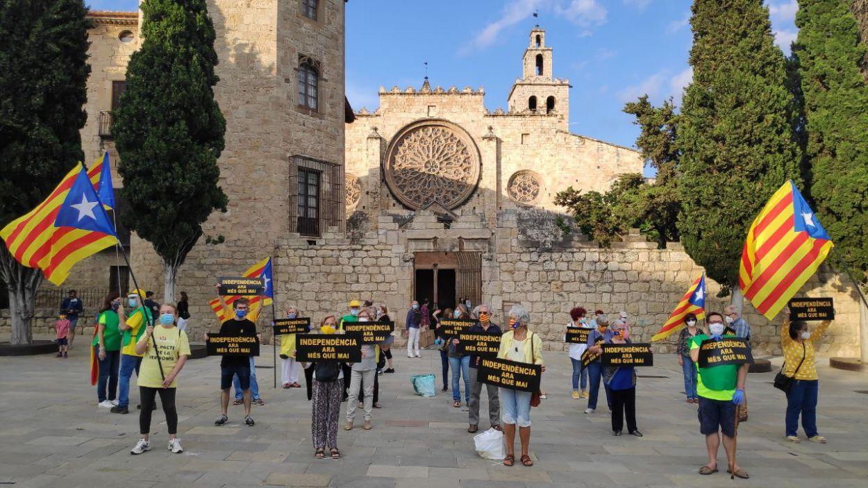 Una de les concentracions ha tingut lloc a la plaça d'Octavià / Foto: Cugat Mèdia