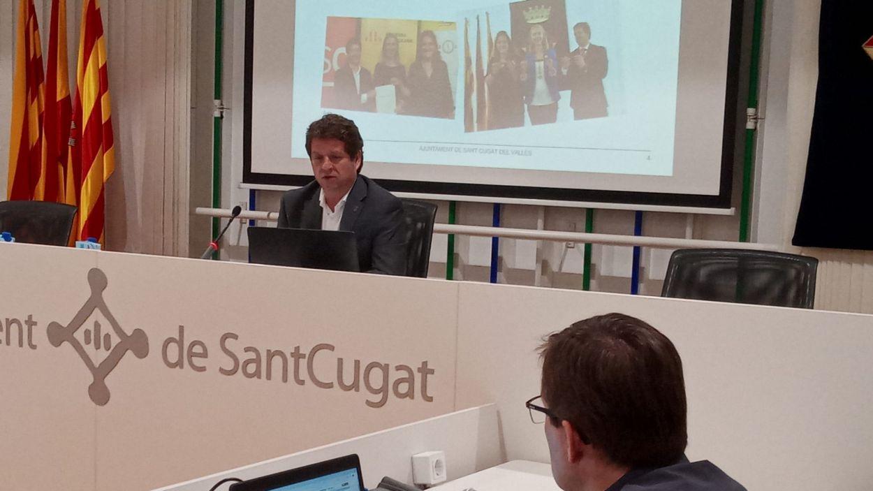 Pere Soler durant l'audiència pública / Font: Premsa Ajuntament