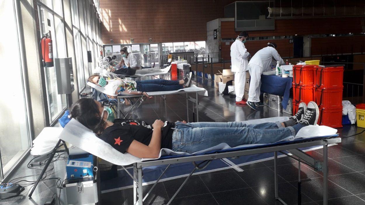 Imatge d'arxiu d'una jornada de donació de sang a Sant Cugat / Foto: Cugat Mèdia