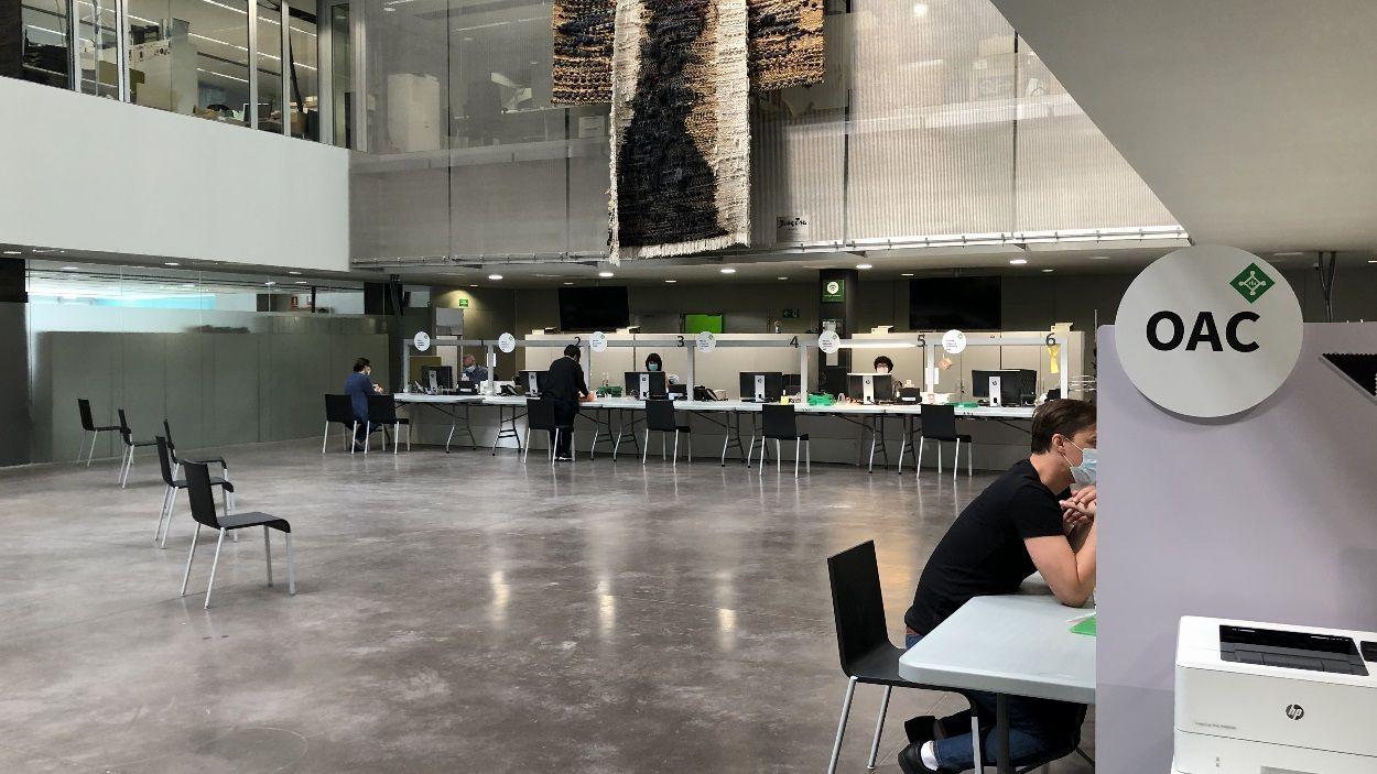 L'OAC de l'Ajuntament de Sant Cugat, adaptada a les mesures de seguretat sanitàries / Foto: Cugat Mèdia