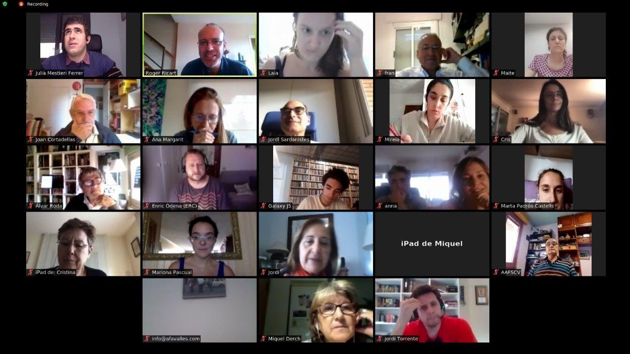 Imatge de l'assemblea virtual d'entitats de Sant Cugat / Foto: Festa de Tardor