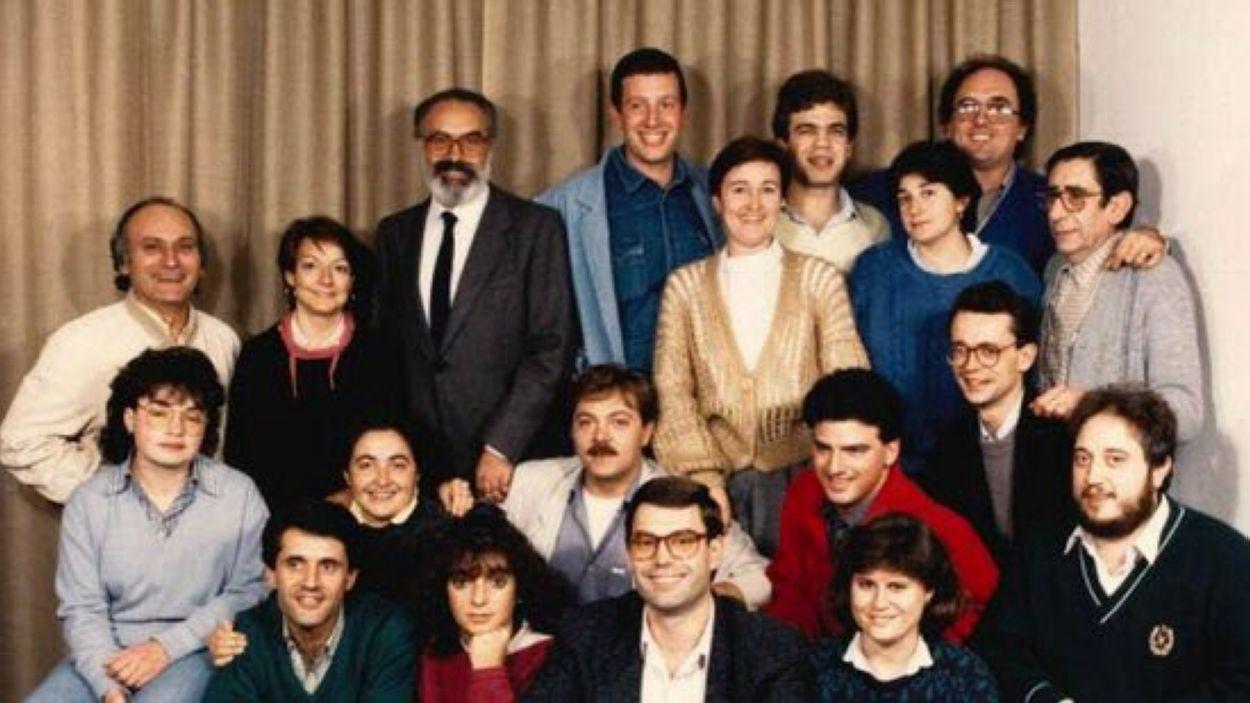 Imatge dels inicis de Ràdio Sant Cugat / Font: Josep Amorós