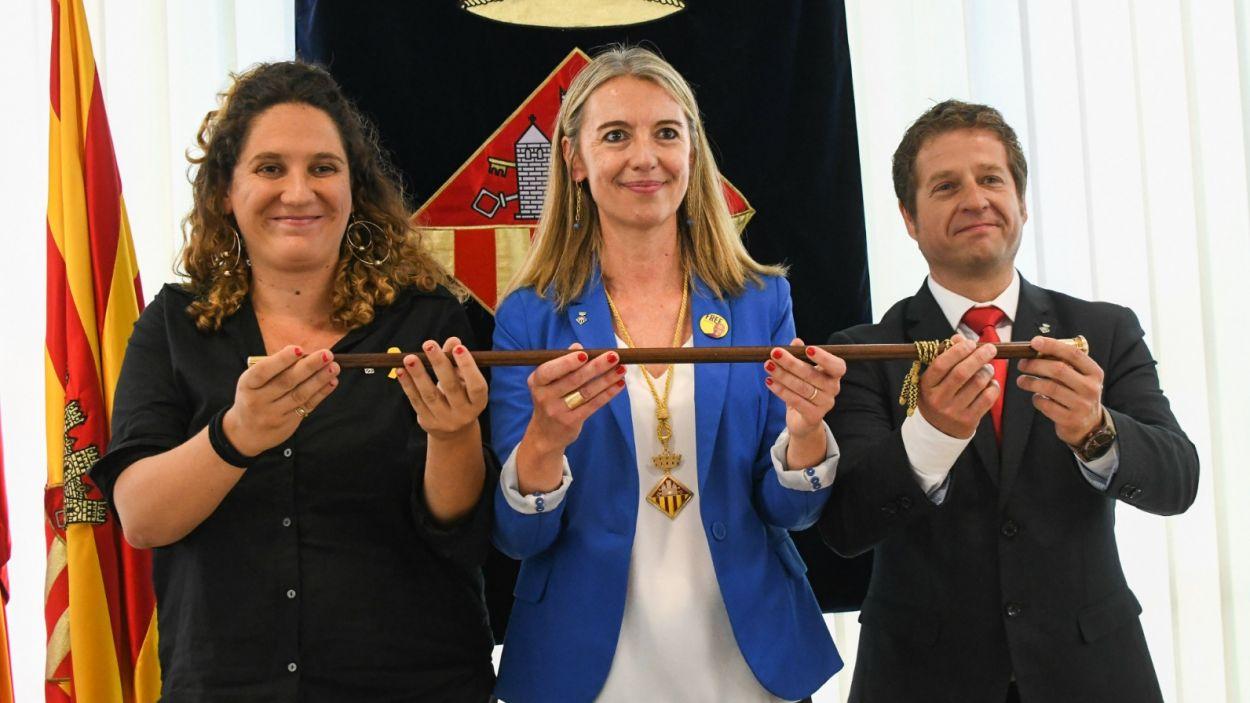 El tripartit de Sant Cugat el conformen la CUP-PC, ERC-MES i el PSC / Foto: Localpres