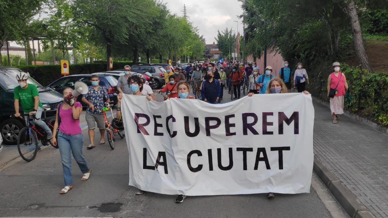 La manifestació ha recorregut els carrers del centre / Foto: Cugat Mèdia