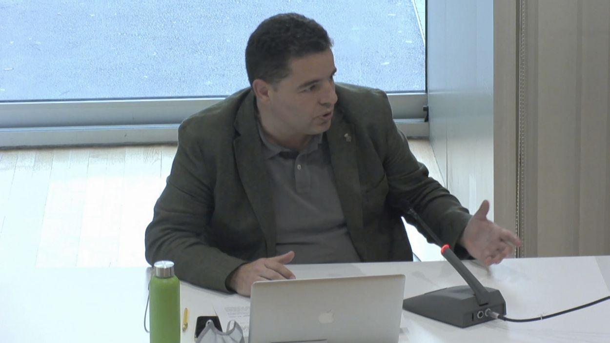 Albert Salarich, al ple / Foto: Cugat Mèdia