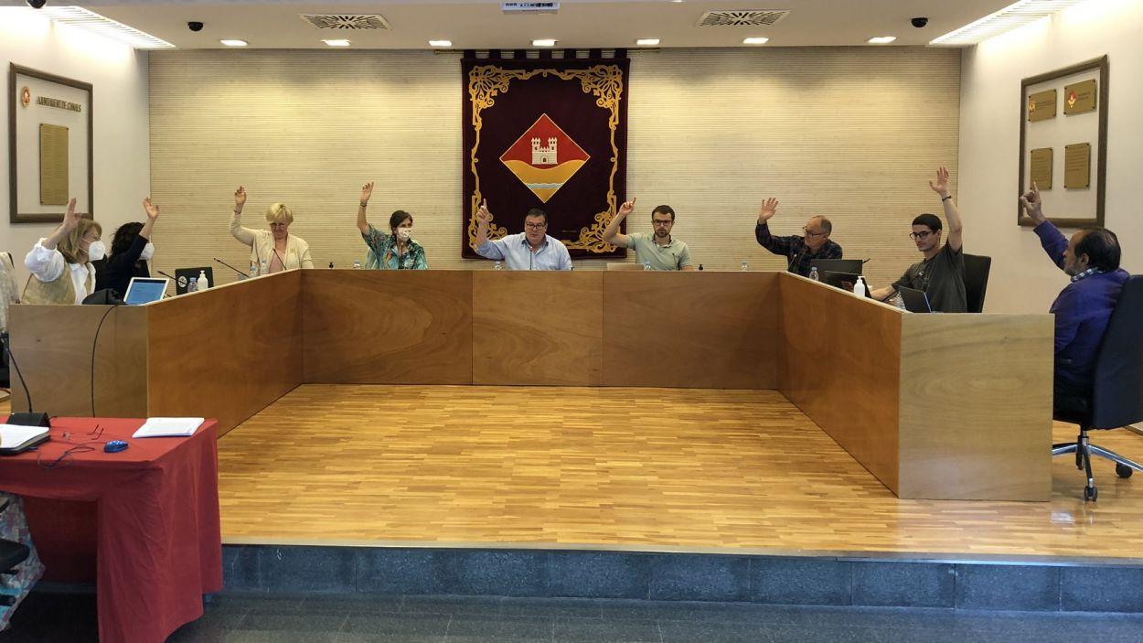 Imatge de l'última Junta de Veïns de Valldoreix, al juny / Foto: Twitter EMD