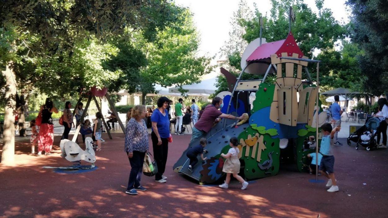 Imatge d'arxiu d'un parc infantil a Sant Cugat / Foto: Cugat Mèdia